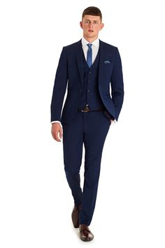 Moss London Slim Fit Navy Business Mix and Match Suit Jacket