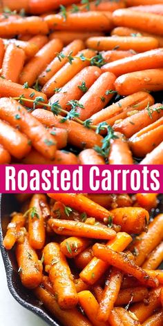Brown Butter Garlic Honey Roasted Carrots: the BEST roasted carrots. This accompaniment is the best Side Dish Recipes, Veggie Recipes, Mexican Food Recipes, Vegetarian Recipes, Cooking Recipes, Healthy Recipes, Dinner Recipes, Steak Recipes, Dinner Ideas