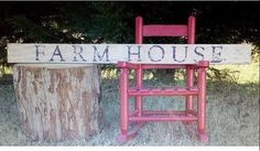 Farmhouse Sign reclaimed wood distressed by southernbellesign