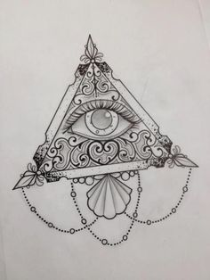 Download Free ... Tattoo Design Tattoos Sketch All Seeing Eye Tattoo Sternum Tattoo to use and take to your artist.