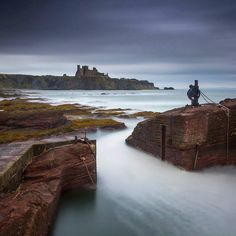 Perched on the edge of Scotland's seacliffs looking out to the Bass Rock is Tantallon Castle once the formidable stronghold of the Douglas family. It was besieged by both James IV and James V but was ultimately destroyed by Oliver Cromwells troops in a siege of 1651. Photo: