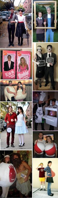 adult costumes Mary Poppins; American Gothic; Ken & Barbie; Silent Movie; Tooth Fairy; Alice in Wonderland; Bun in the Oven; Bra; Cast Away Wilson (ball); Where's My Basketball?