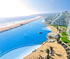 Ever had the chance to swim in a pool the size of a lake? Head to Chile's San Alfonso Del Mar and you will!