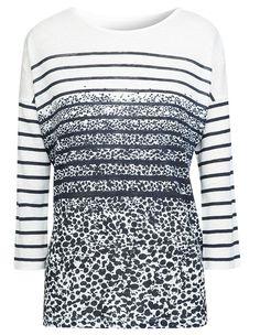 T-shirt marinière tacheté noir et blanc, Comptoir des Cotonniers Comptoir  Des Cotonniers, 86cdba69a051