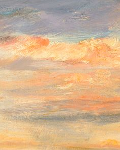paintedout: John Constable - Cloud Study, Early Morning, Looking East from Hampstead. Orange Painting, Sky Painting, English Romantic, English Artists, Art Nouveau, Of Wallpaper, Early Morning, Art History, Landscape Paintings
