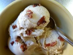 brown butter & bacon ice cream ... the three Bs together in one perfect treat