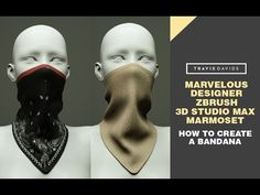 (10) Marvelous Designer, Zbrush, 3D Studio Max & Marmoset - How To Create A Bandana - YouTube