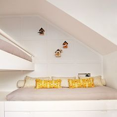 Looking for small kids' bedroom ideas? See this shared bedroom in a 90 square metre family home in London, plus more small spaces with HUGE inspirat Small Rooms, Small Spaces, Sutton House, Bunk Beds Built In, Small Space Design, Multipurpose Room, Loft Room, Shared Rooms, Kids Bedroom