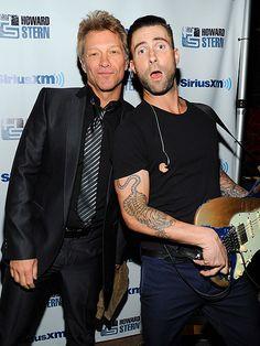 "Jon Bon Jovi and Adam Levine. 2 of world's ""sexiest men alive"" right there!!"