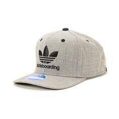 b39ecd9f3b10 Adidas Skate Grey Snapback Hat