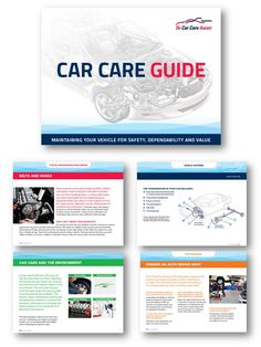 Brand new Car Care Guide- 80 pages of tips on vehicle systems, typical maintenance, going green and more! (PS- order a FREE copy!)