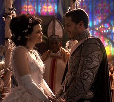 Once Upon A Time, Snow White & Prince Charming at their wedding