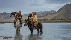 Фото: Монгольские охотники: обворожительные колоритные портреты (Фото)
