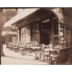 CAFÉ AVENUE GRANDE ARMÉE, 1924-25? By Eugène Atget