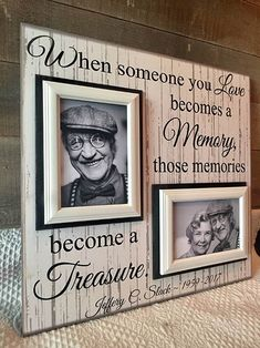 101 best memorial gifts images on pinterest sympathy gifts sympathy gift memorial photo frame in distressed wood vintage style solutioingenieria Images
