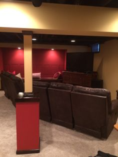 Finished Small Basement Ideas | Finished Basements: New Space With  Unlimited Functional Opportunities | Home Renovations And Expansion |  Pinterest | Idéias ...