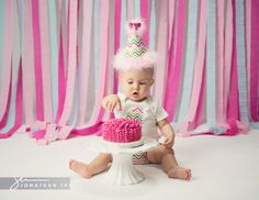 First Birthday Photos cake smash decor