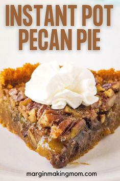 Yes, it's true! You can make a pecan pie in your Instant Pot! And not just any pecan pie--an amazing, decadent one with sweet caramelized filling chock full of pecans and chocolate chips. Put your pressure cooker to work this holiday season with this easy recipe! Desserts For A Crowd, Holiday Desserts, Easy Desserts, Holiday Recipes, Delicious Desserts, Dessert Recipes, Pressure Cooker Desserts, Pressure Cooking, Best Instant Pot Recipe