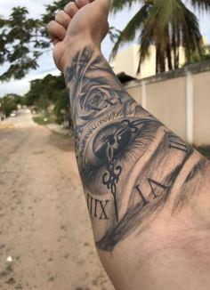 Popular Wrist Tattoo Models in 2019 - Tattoos For Men: Best Men Tattoo Models Tattoos Motive, Forarm Tattoos, Best Sleeve Tattoos, Tattoo Sleeve Designs, Forearm Tattoo Men, Tattoo Designs Men, Body Art Tattoos, New Tattoos, Tattoos For Guys