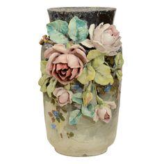 French Art Pottery vase,  France  19th Century.  Rare 19th Century French Art Pottery Vase.