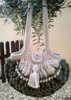 Bolso Shamrock  tejido en horquilla y crochet por Quinah en Etsy, €35,00