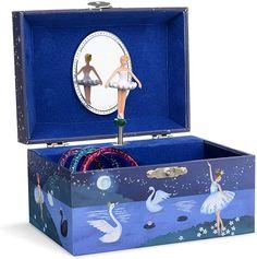 Amazon.com: Jewelkeeper Girl's Musical Jewelry Storage Box with Spinning Ballerina, Glitter Design, Swan Lake Tune: Toys & Games Kids Jewelry Box, Polymer Clay Christmas, Swan Lake, Jewellery Storage, Spinning, Toy Chest, Ballerina, Storage Chest, Musicals