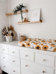 Apartment Nursery, Ikea Nursery, Nursery Room Decor, Girl Nursery, Changing Table Dresser, Baby Changing Table, Changing Pad, Baby Dresser, Nursery Dresser