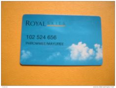 AIRLINE Frequent flyer card, Royal Brunei           as scan.   ROYAL  SKIES.