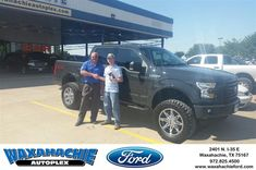 Happy Anniversary to Aaron on your #Ford #F-150 from J David Thornhill at Waxahachie Ford!  https://deliverymaxx.com/DealerReviews.aspx?DealerCode=E749  #Anniversary #WaxahachieFord