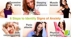 6 steps to identify signs of anxiety.