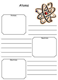 Worksheets Worksheets On Atoms worksheets on pinterest notebooking pages for lots of topics this one is atoms free printables