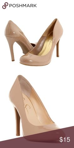 Jessica Simpson tan pumps Malia design JS pump. Minor flaw where the plastic rubbed off. And the heel has a little rub on the left shoe See picture. Jessica Simpson Shoes Platforms