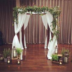 What a romantic chuppah #weddingwednesday  Photo: @denisefasanello   . . . . #weddingceremony #luxurywedding #instawedding #weddingdecor #weddingseason #weddinginspo #weddingday #wedding2016 #weddingnyc #nycwedding #tribecarooftop #tribeca #rooftop #nyc #batmitzvah #barmitzvah #halloween #fall #autumnnyc #weddingflowers #nycflowers