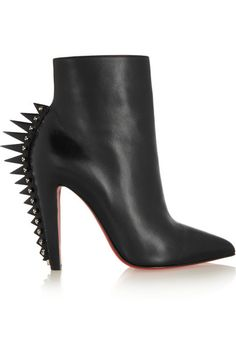 Christian Louboutin | Spiked 100 leather ankle boots