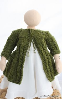 Knitted Cardigan for MamAmor dolls