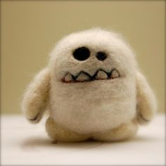 A needle felted Yeti for my Louisa please! I love everything this woman makes. http://www.etsy.com/shop/asherjasper?ref=seller_info