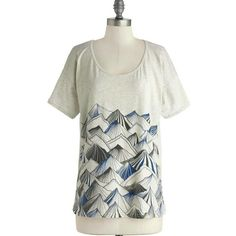 Modcloth Mountain Print Top Vintage Style Brand new without tags ModCloth Tops