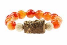 Gemelli Agate Collection - Druzy Bracelet - Sunrise Citrine with Gold Druzy