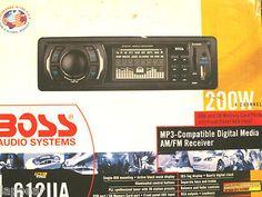 Boss Audio Systems 612UA AM/FM/MP3 Compatible In Dash Car Stereo Receiver MP3
