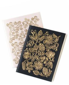 Foil Floral Pocket Notebook Set