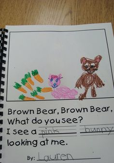 each child draws a pic of what their brown bear sees