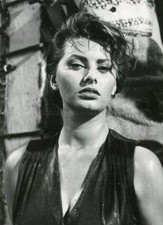 SEXY SOPHIA LOREN LA DONNA DEL FIUME 1955 VINTAGE PHOTO ORIGINAL