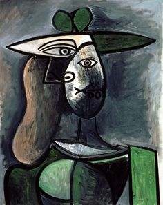 Pablo Picasso - Lady wit the Green Hat, 1947