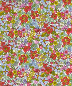 Liberty Art Fabrics Flower Tops Tana Lawn Cotton   Fabric   Liberty.co.uk