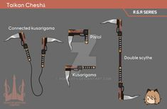 [RWBY OC] Terra's weapon by Pokelots.deviantart.com on @DeviantArt