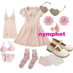 pink nymphet by littleloe on Polyvore featuring polyvore, fashion, style, Mimi Holliday by Damaris, Wildfox, TONYMOLY and clothing