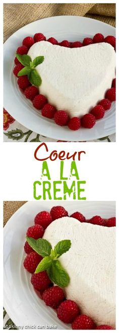Coeur a la Creme | An exquisite no-bake dessert that's naturally perfect for Valentine's Day #dessert #nobake #valentinesday
