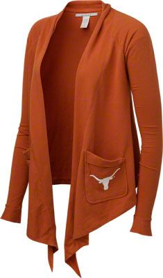 Texas Longhorns Women's Burnt Orange Draped Cardigan Sweater