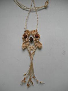 macrame - owl - hand made - Darja Blahutová