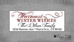 Christmas Return Address Labels Christmas by PaperDollPrinting, $12.00